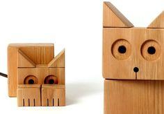 gatos madera