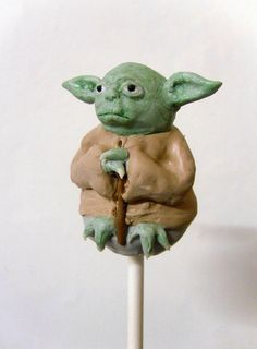 Yoda Cake Pop by Kiss And Bake Up, via Flickr