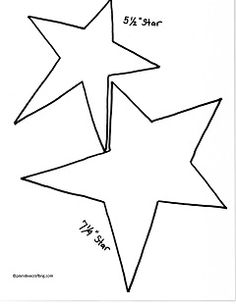 printable star pattern template .