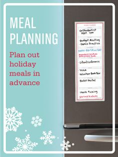 Plan out holiday meals in advance with the #MarthaStewartHomeOffice dry erase Weekly Planner #holidayorganization