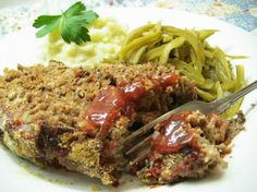 Mom s Meatloaf (German Falsche Hase) from Food.com: A real family pleaser, and great comfort food. Great served with green beans and mashed potatoes, with extra catsup on the side. I usually double the recipe and make two loaves in order to have extra for meatloaf sandwiches the next day--yum!!! Recipe is from my mother who learned it from my Oma, growing up.