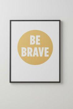 Be Brave / string art, framed art, babies nursery