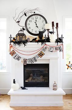 halloween fireplace - The Todd and Erin Favorite Five