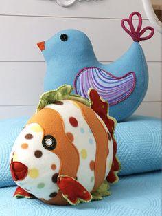 fleece animal pillows