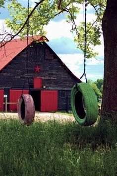 tire swings / barn