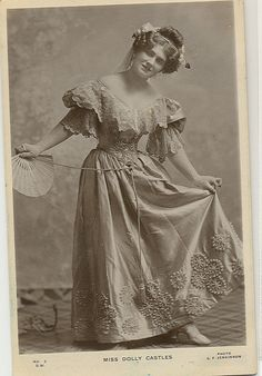 Ethel Castles (stage name Dolly) was known for singing in Gilbert & Sullivan's comic opera.