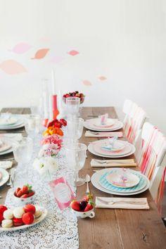 Degradado de color en la mesa