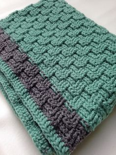 Ravelry: KBartho's Basket Weave Baby Blanket
