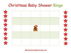 Free Printable #Christmas #Baby #Shower #Bingo. Click to see more Christmas Baby Shower Games.