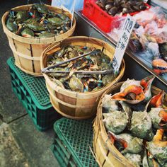 Fresh seafood in Chinatown, NYC.