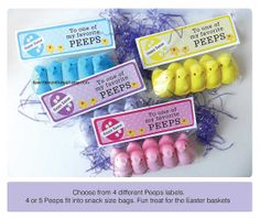 Easter Fun Peeps in a Bag for the Kids  Easter Basket and Easter Egg Hunt