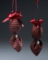 Regal & Repurposed Tie Ornaments