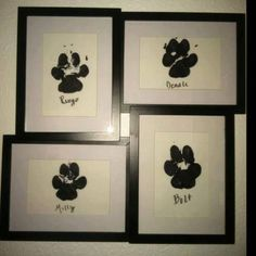frame, dog paw print diy, dog cat, crafts for dogs, pet paw print, hand prints, dog corner ideas, dog kids, puppi