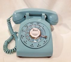 Blue Rotary Phone - Rare Color $45