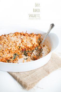 Easy Baked Spaghetti   chocolateandcarrots.com