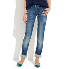 Madewell  Rail Straight Jeans in Dusty Blue Wash