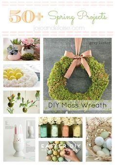 decor, diy moss, idea, fav craft, easter, moss wreath, inspir diy, elois, spring project