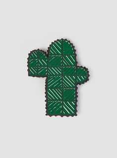 Couverture and The Garbstore - Womens - Minä Perhonen - Cactus Pin Badge