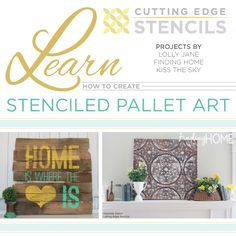 Learn to achieve artistic effects by stenciling on pallets.