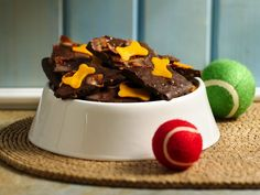"""Doggie Bark - carob chips, bacon cheese and crunchy peanut butter... I know my Boxer would love these new """"cookies"""""""