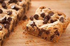 Chocolate chip cookie bar!
