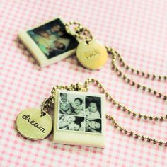How to make a miniature Polaroid photo necklace via @Guidecentral - Visit www.guidecentr.al for more #DIY #tutorials