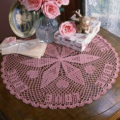 Crochet thread doily patterns| Crochet doily patterns with hearts- LeisureArts