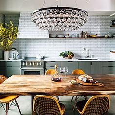 Go big on the wow factor: After downsizing by more than 1,500 square feet, Monique and John Menconi bought a loft in Portland's Pearl District and set out to create a kitchen that could easily accomodate entertaining.