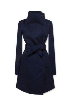Lapel Dark Blue Coat--I want this