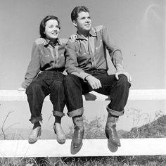 War hero turned actor Audie Murphy with Wanda Hendrix..