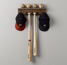 Vintage Industrial Baseball Shelf  $79