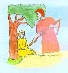 Gideon and the Angel - Bible Story of Gideon with Questions and Answers and a coloring page.