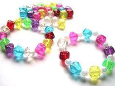 Coloured Dice Bead Bracelets
