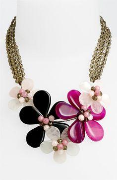Nakamol Design 5-Flower Stone Necklace | Nordstrom amaz style, nakamol design, necklac idea, jewelri, flower, stone necklac