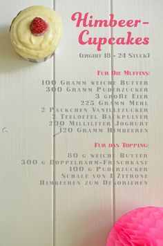 Rezept für Himbeer-Cupcakes #rezept #cupcake