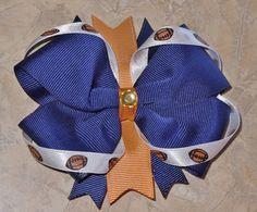 Custom St. Louis Rams Football Hair Bow!