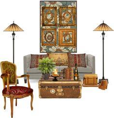 """Sitting Room"" by mandeerose ❤ liked on Polyvore"