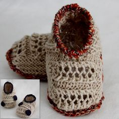 Ravelry: PATTERN Beige Baby Slippers pattern by Julia Noskova