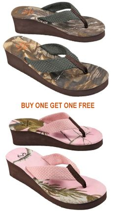 #New Realtree Womens Camo Wedge - Buy 1 GET 1 FREE. http://goo.gl/1AFhcm