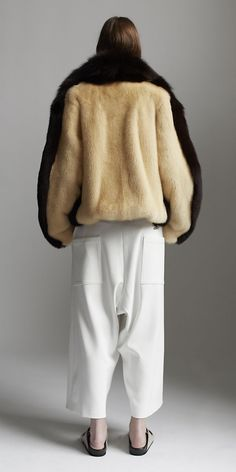 CÉLINE 2014 jacket, céline resort, fashion, celin spring, fur, look books, spring 2014, crepe, coat