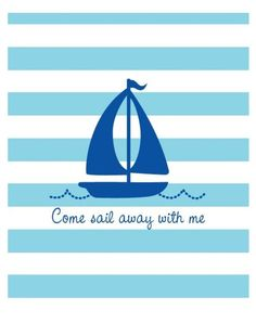 Nautical nursery wall art. #wall #decor #nautical #nursery #pinparty