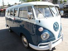 Volkswagen Van-- Someday I will have one and I'll get to sew cute curtains for it and go camping in it!! lol!