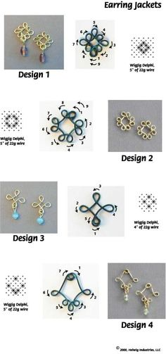 Flower wire jewelry part.