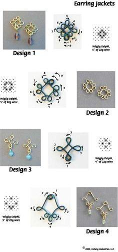 Flower wire jewelry part.