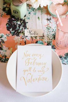 vintage Valentine's table setting