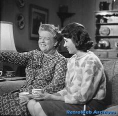 Frances Bavier and Elinor Donahue