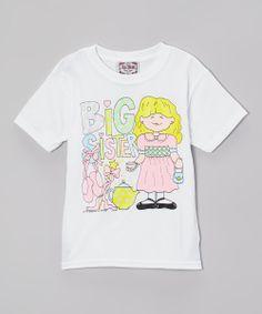 White & Pink Ballet 'Big Sister' Tee - Toddler & Girls