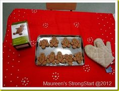 Gingerbread pretend cooking in dramatic play