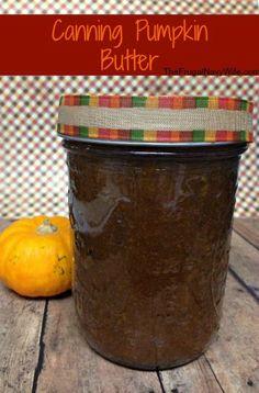 Canning Pumpkin Butter #canning #recipe #pumpkin