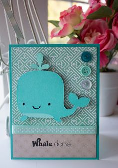 Whale Done - Handmade Greeting Card